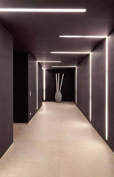 LED linear lighting design project in Dubai.
