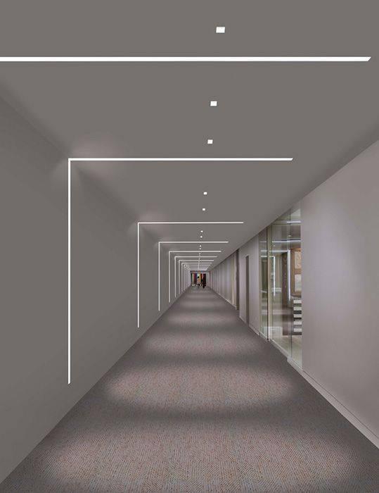 LED strips illumination.