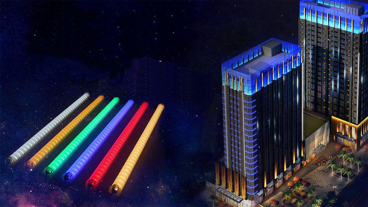 illumination design with colored bulbs